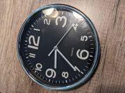 Runde Uhr schwarz Wanduhr ca
