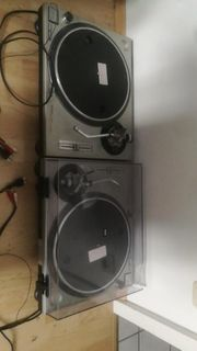 2x Technics 1200 mk2 Plattenspieler
