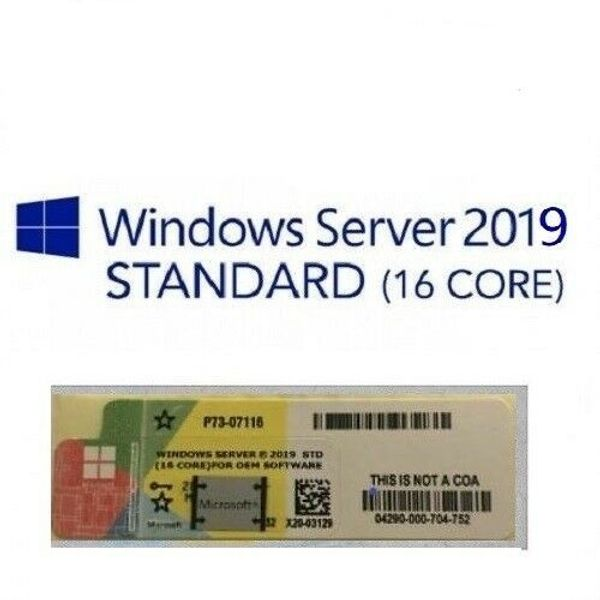 Windows Server 2019 Standard Sticker