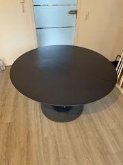 Esstisch rund dunkelblau -130cm - ausziehbar