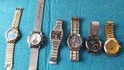 6 verschiedene Uhren