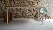 Tische Stahl Eichenholz Homeoffice Küchentisch
