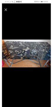 Schreibtisch mit design Glasplatte