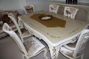 Barockstil handgefertigte Massiv Esszimmermöbel mit