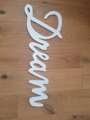 Schriftzug aus Holz zum aufhängen