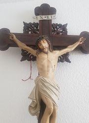 antikes Kruzifix Herrgottskreuz Jesus am
