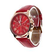 Elegante moderne Damen Armbanduhr - rot-Edelstahl