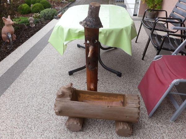 Deko Brunnen Pflanzkübel für Haus