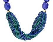 Kette blau und grüne Glaskristalle