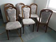 4 Esszimmerstühle Eiche rustikal sehr