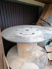 XXXL Holz-Kabeltrommel Durchmesser 120 cm -