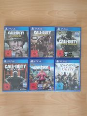 6 PS4 Spiele Call of