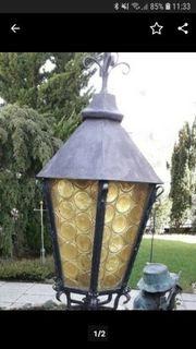 2 Kunstschmiede Lampen für den