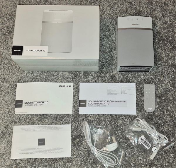 Bose SoundTouch 10 Weiß Soundtouch10 System Sound Touch Wifi HiFi