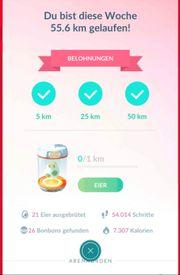 Laufservice in Pokemon Go 50km