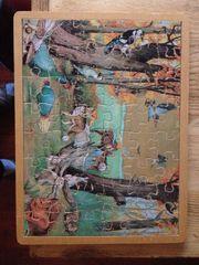 Vintage Holzpuzzle 48 Teile Motiv