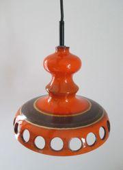Original orange Deckenlampe 60er 70er