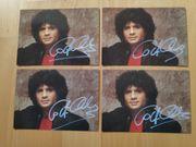 4 x Costa Cordalis Autogrammkarten