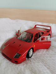 Modellauto Ferrari F40 rot Bburago