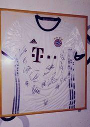 FC Bayern Trikot mit Autogramme