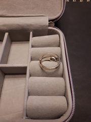 Damenring Silberring mit weißem Stein