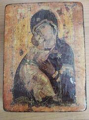 Altes Bild auf Holz Größe