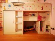Kinderhochbett mit Schrank und Beauty-Eck