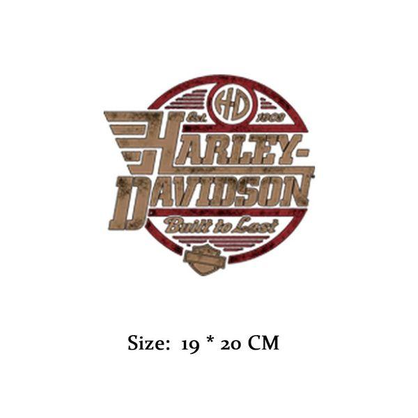 Aufbügler Aufkleber Harley Davidson Built