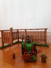 Playmobil Zaun mit Traktor