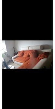 L-Couch mit Schlaffunktion an Selbstabholer