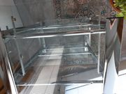 Schreibtisch Glas Chrom