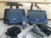 Tragbarer DVD Player mit zwei