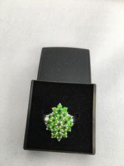 Wunderschöner Chromdiopsid Silberring Gr 18