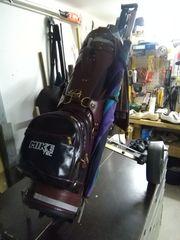 vollständige Golfausrüstung Golf Golfbag Trolley