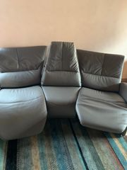 Ledercouch - Trapez Couch Relax Sofa