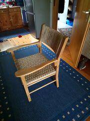 4 Stühle aus Eichenholz und