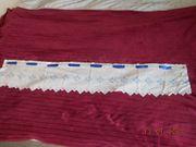 Scheibengardine kurz handbestickt B 127