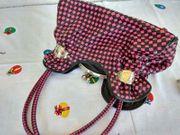 Handtasche rosa - schwarz Neu 35