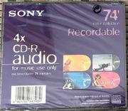 CD-R Audio Sony 8Stück 74