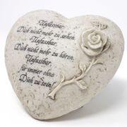 Herz Trauertext Grabherz mit Inschrift