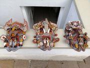 Masken aus Ton aus Metepec