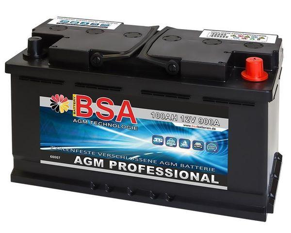 AGM Solarbatterie 100Ah Autobatterie