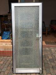 alte Haustür Türblatt mit Sicherheitsglas