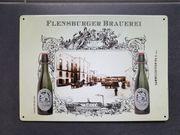 Blechschild - Flensburger Brauerei