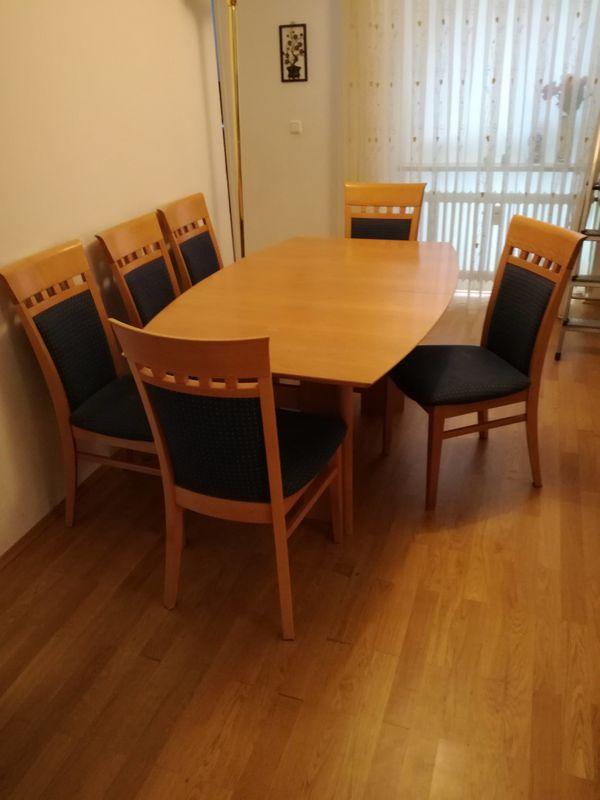 Tisch Mit 6 Sämtliche TischKulissentisch In StühlenAusziehbarer gvYb6f7y