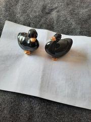 Porzellan schwarze Enten Vögel
