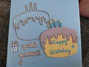 Stanzschablone Geburtstag Torte