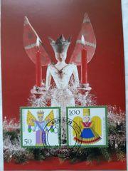 Maximumkarte 1990 Weihnachtsmarken