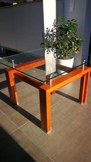 Designer Couch-Tisch Kirschbaum Alu