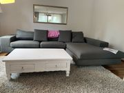 Moderne Eckcouch Sofa in dunkelgrau
